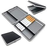 Starlet24® Zigarettenetui schwarz in Leder-Optik für 20 Filterzigaretten...