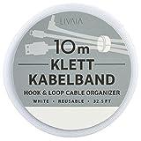 Klett Kabelbinder Wiederverschließbar: 10m Klettband Kabelbinder grau für einfaches...