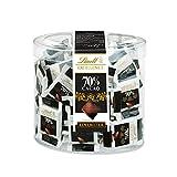 Lindt Excellence 70% Kakao Mini-Schokoladentäfelchen   385g Packung   Einzeln verpackte...