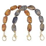 PandaHall 2 Strands Perlentaschenkette 30cm/11.8' Kurze Taschenkette Handtaschenkette...