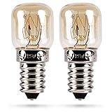 HEITECH Backofenlampe 2er Pack 15W E14 - Backofen Glühbirne hitzebeständig bis 300 Grad...