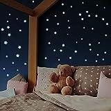 400 Leuchtsterne selbstklebend [Perfekter Halt auf allen Oberflächen]...