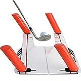 ETE ETMATE Easy Path Golfschwung-Trainingshilfe mit Acrylsockel und 6-Wege-Ruten Golf...