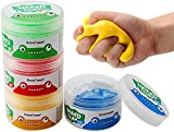Guillala 4 Stücke Therapie-knete Putty Hand Squeezer, Hand Therapieknete Theraputty für...