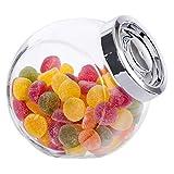 MamboCat Vorratsdose Pandora aus Glas mit Deckel Silber-glänzend 2L | Nudelglas |...