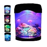 Quallen Lampe mit 7 Farbwechselnden Tragbaren LED Fantasy Stimmungs Lampe Quallen...