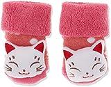 Sterntaler Baby-Mädchen Rasselsöckchen Katze Socken, Beerenrot Mel, 15/16