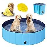 Hundepool für Große & kleine Hunde, Faltbare Schwimmbecken für Kinder 80cm/120cm/160cm,...