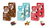 SO ACTIVE Protein Eiweiß Snack MIX Kakao (16,4% Protein) Kokos (17,7% Protein) Kirsche...
