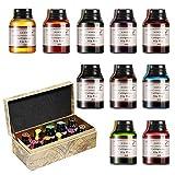 GCQUILL Kalligraphie Tuschen Set 10 Farben in 21 ml Flaschen, untereinander...