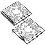 2 Stück Metall zigarettenetui - Aluminium Zigarettenbox für 20 zigaretten