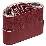 Schleifbänder,75 x 533 mm je 5 x Korn 40 60 80 120 180 für Bandschleifer...