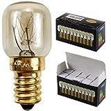 Kleine Glühlampe für Mikrowelle/Backofen, 10 Stück/Packung, SES/E14-Schraubsockel, für...