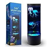 Jellyfish Lava Lamp LED Fantasy 20 Farbwechselndes Nachtlicht mit 3 Quallen...