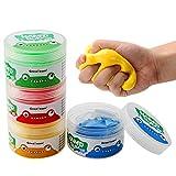 hfior 4 Stücke Therapieknete Hand Squeezer, Putty Für Handtraining, Therapie...