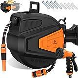 KESSER® Schlauchtrommel 20+2m Schlauchaufroller Wasser | Multi-Handbrause |...