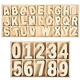 WOWOSS 180 Stück Holzbuchstaben und -nummern für die Basteldekoration, 130...