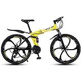 MYRCLMY Variable Speed Folding Fahrrad, 26 Zoll Leicht Faltrad, Erwachsene...