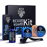 Beard Growth Kit, Scdom Patchy Facial Hair Growing Kit mit Bartroller +...