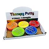 Therapeutische Knete, Premium-Set, 5 Stück, quetschbar, ungiftig, für Handübungen,...
