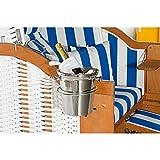 Sektkühler aus Edelstahl für Sonnenpartner Strandkörbe (Halterung bitte separat...