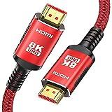 8K HDMI 2.1 Kabel 2M-Snowkids 8K@60HZ & 4K @ 120HZ/144HZ DSC 48Gbps DTS: X, HDCP 2.2 &...