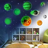 9 Planeten Sonnensystem Wandsticker, Leuchtsticker Sonne Erde Fluoreszierend...