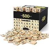 Magicfly 500pcs Scrabble Buchstaben Holz, Stück Buchstaben Holz zum Spielen,...