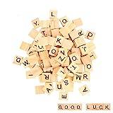 moinkerin 100 Stücke Holzbuchstaben Buchstaben Holz Alphabet Fliesen Buchstaben Spiel...
