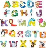 INDIGOS UG - Holzbuchstabe - A - für Kinder und Babys - Motiv Tiere für das...