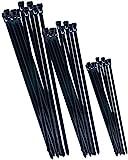 Werkzeyt Kabelbinder-Sortiment - schwarz - Diverse Größen im Set - 75 Stück -...