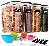 GoMaihe 4L Vorratsdosen 4 Set, Aufbewahrungsbox Küche Luftdicht Behälter aus Plastik Mit...