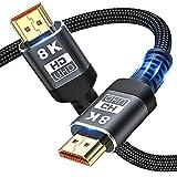 8K HDMI-Kabel 48 Gbit/s 6,6 ft, Ultrahochgeschwindigkeits-HDMI-Geflechtkabel -...