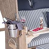 Mr. Deko Champagnerkühler für Strandkörbe - Sekt - Behälter - Kühler - Edel - EIS -...