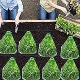 U/N pflanzenschutzhaube, Pflanzenhut zum Schutz vor Sonne, Frost, Schnecken, 20 Stück...