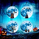 BNMY Wandtattoo Leuchtmond 20X20 cm I Selbstklebend Fluoreszierend Mond Leuchtend...