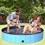 BOIROS Hundepool 160cm, Hundepool fur Große & Kleine Hunde, Schwimmbecken für...