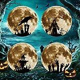 BNMY Wandtattoo Leuchtmond 30X30 cm I Selbstklebend Fluoreszierend Mond Leuchtend...
