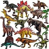 TOEY PLAY Große Dinosaurier Spielzeug Set mit T-Rex, Triceratops,...